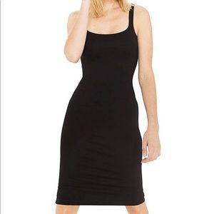 American Apparel ponte tank dress black